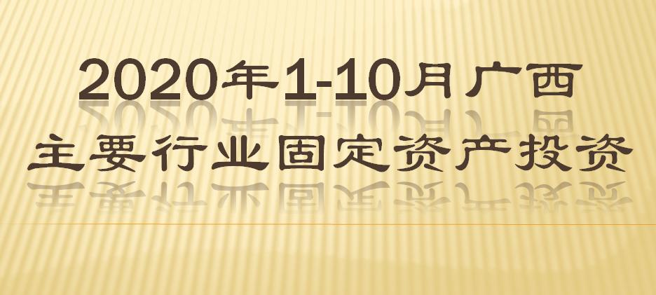 2020年1-10月广西主要行业固定资产投资情况