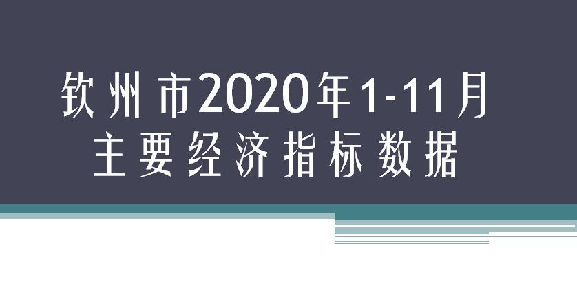 钦州市2020年1-11月主要经济指标数据
