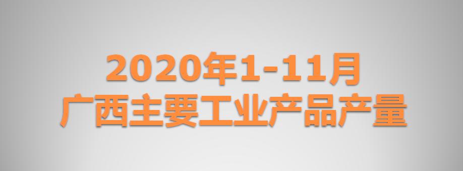 2020年1-11月广西主要工业产品产量