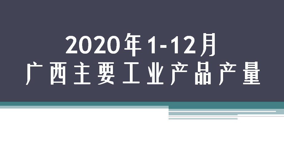 2020年1-12月广西主要工业产品产量