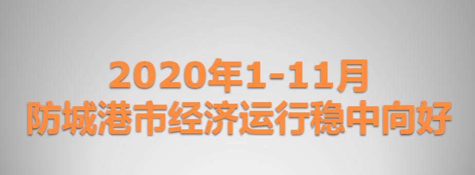 2020年1-11月防城港市经济运行稳中向好