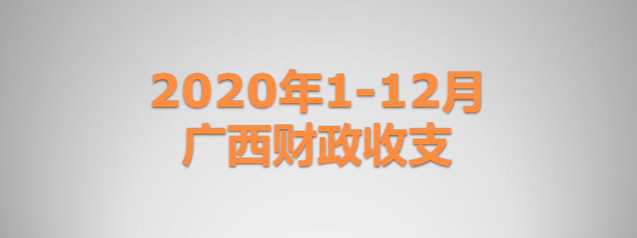 2020年1-12月广西财政收支