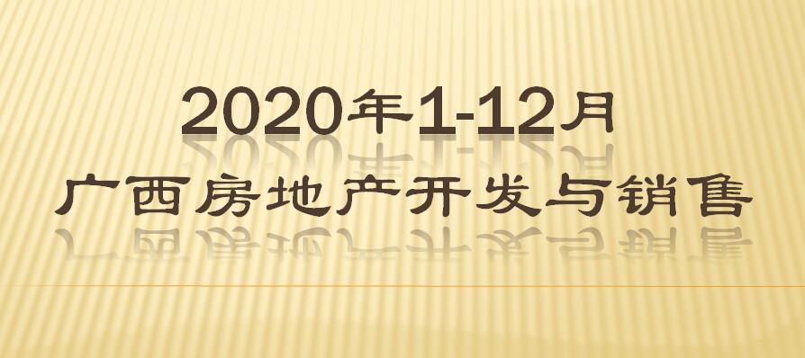 2020年1-12月广西房地产开发与销售
